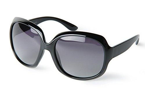 corciova Classia Simple Oversized Women's Polarized Sunglasses UV400 Come with Black Case