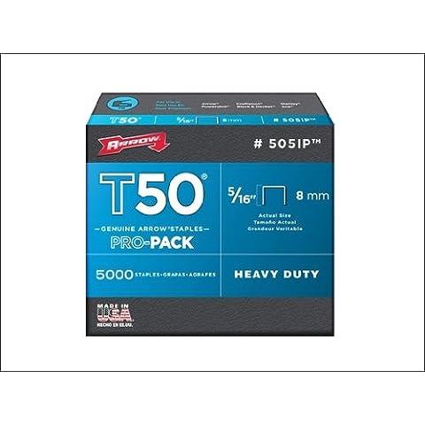 ARROW T50 Staples Box 5000 8mm - 5/16in