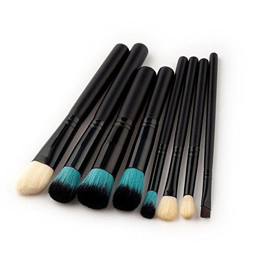 Brosse de maquillage, 8 Pcs / Set noir ombre à paupières pinceau blush maquillage Brush Foundation fond de teint Poudre Ombre à Paupières Contour Concealer beauté coloré pinceau joue cosmétique Tool Kit