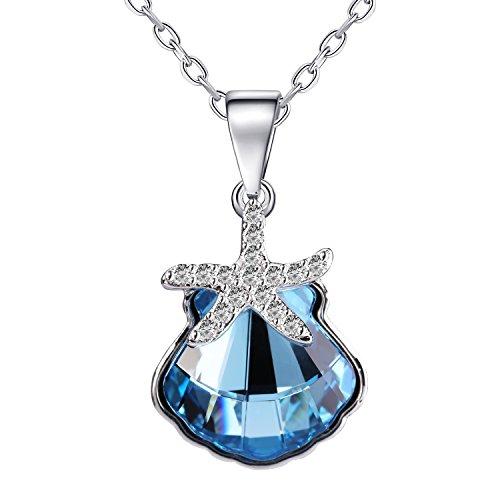 UNBREAKcable Rosey Collares para Mujer con Cristales, Ocean of Love 45,72 cm + 5,08 cm Extensible Regalo Ideal para cumpleaños, Aniversario