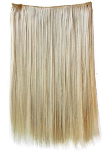 Prettyshop xxl 5 clips one piece di clip in extension parrucche dei capelli lisci a pelo lungo 60 cm biondo platino # 613 c56