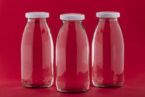 15 oder 24 x 250 ml leere Glasflaschen MIL Milchflaschen kleine Saftflasche mit Schraubverschluss 0,25 liter l von slkfactory (15 Stück)