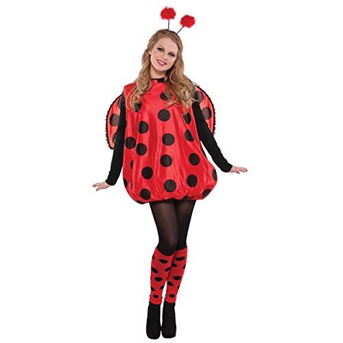 Für Marienkäfer Kostüm Erwachsene (Damen Kostüm Marienkäfer Glückskäfer)