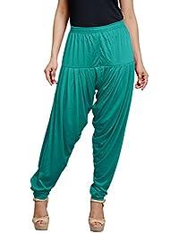 Goodtry Women's patiyala Free Size-Rama Blue