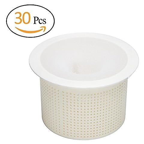 anphsin 30Pack Pool Skimmer Socken–feinmaschigen Filter Saver für Filter, Körbe & Abschäumern