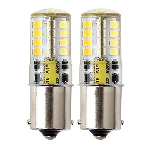 Ba15s 1156 P21W Lampadine LED Segnale di svolta, Bianco Freddo 6000K, singolo contatto a baionetta 1141 S8 LED per Luce per auto barca illuminazione, Pacco da 2
