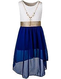 Mädchen Sommer Kleid in 7 Farben mit Kette optional mit Jacke
