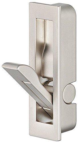 Preisvergleich Produktbild GedoTec® Klappgriff Möbelgriff vernickelt matt - Modell K-085 / einsetzbar als Klapphaken & Kleiderhaken klappbar / Griff / Haken zum Einlassen für Möbel / Markenqualität für Ihren Wohnbereich (Stahl vernickelt)