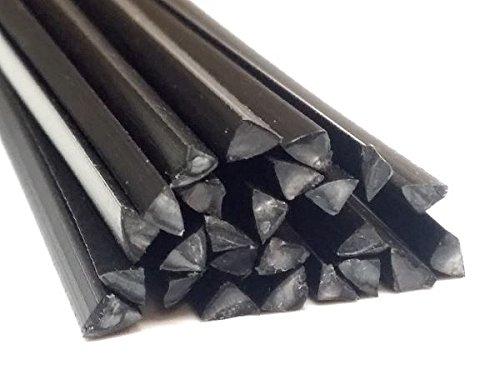 Plastique baguettes de soudure ABS//PC Noir 4mm Ronde 25 Barres
