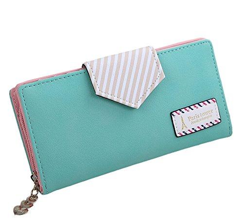 Damen Multi-Card Position Zwei Falten Lange Reißverschluss Geldbörse Card Holder Wallet Lv