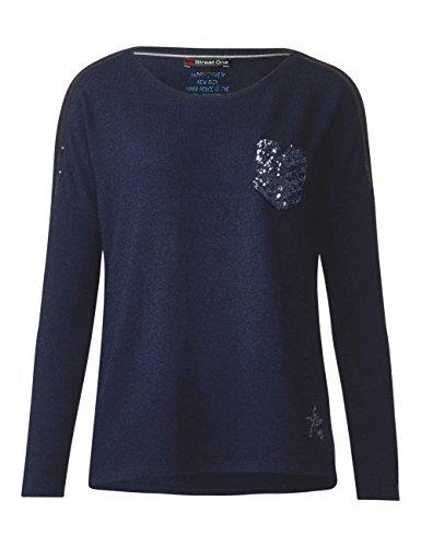 Street One Damen Langarmshirt Blau (Deep Blue 11238)