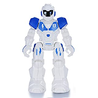 Yeesn Wireless Remote Control Mini Robot Walking Singing Dancing Sliding Smart Programmable Robotics for Kids Boys Girls (Sky Blue)