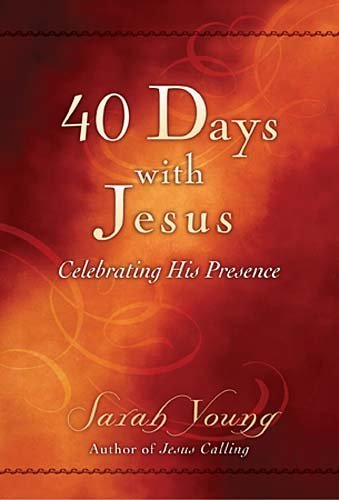 40 Days With Jesus with counter display by Sarah Young (12-Mar-2011) (40 Counter)