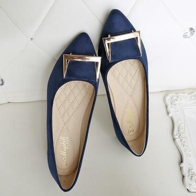 &qq Chaussures en daim, chaussures plates, chaussures de travail plates, chaussures pour femmes 37