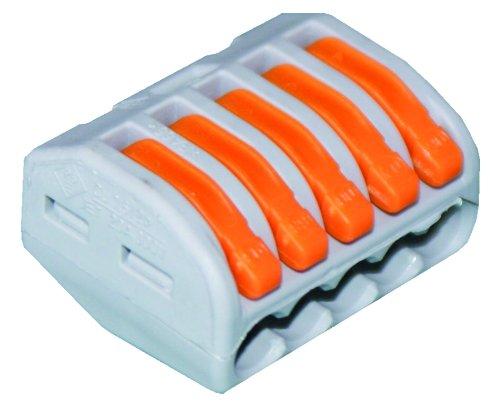 Preisvergleich Produktbild WAGO 222-415 Verbindungsklemme, 5 Pole, wieder lösbar,1er Pack (1 x 40 Stück)