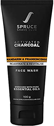 Spruce Shave Club Charcoal Face Wash For Men (100g) with Organic Honey For Pimple, Acne & Oil Control - Ma