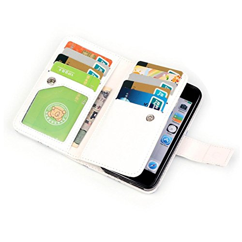 iPhone 5S Hülle Case,iPhone SE Hülle Case,Gift_Source [Multi Card Brieftasche] [Photo card slots] Premium Magnetic PU Leder Brieftasche mit Built-in 9 Card Slots Folio Flip Hülle Case für iPhone SE/5s E01-03-A better day