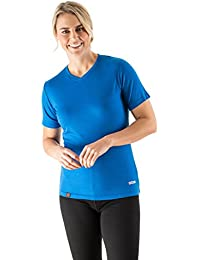 EDZ Merino Wool Women's T-shirt Blue