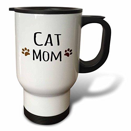 hiekon chat Mom deux pattes en acier inoxydable tasse de voyage, 14-Ounce