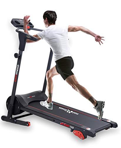 Movi Fitness Tapis roulant MF198, Elettrico,Pieghevole,salvaspazio,Professionale,10 km/h