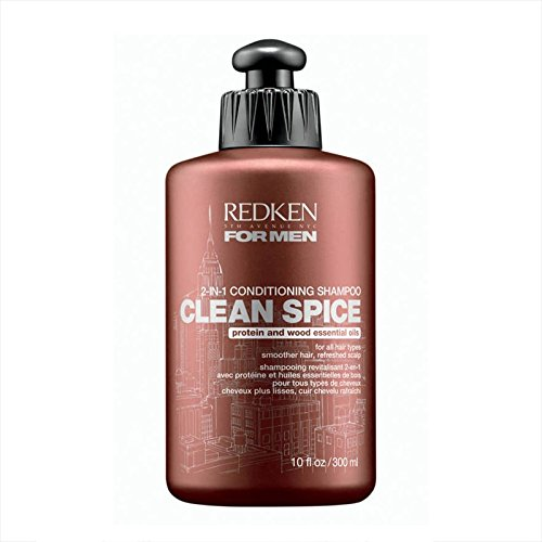 Redken for men Clean Spice 2 in 1 Conditioning Shampoo, 1er Pack, (1x 300 ml) (Men Clean Spice)