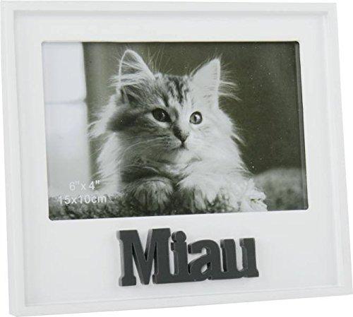 Marco de fotos gato Mia utier MDF para fotos (10x 15cm Marco de fotos animales fotográfico