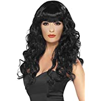 Ladies Siren Glamour Wig Fancy Dress Party Long Curly With Fringe Wigs Assorted