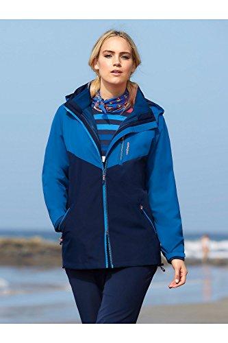 Ulla Popken Femme Grandes tailles Veste fonctionnelle 708703 Bleu Marine