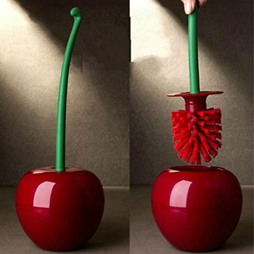 TAOtTAO - Escobilla de inodoro con forma de cerezo, rosso, 14 x 14 x 37cm (approximately)