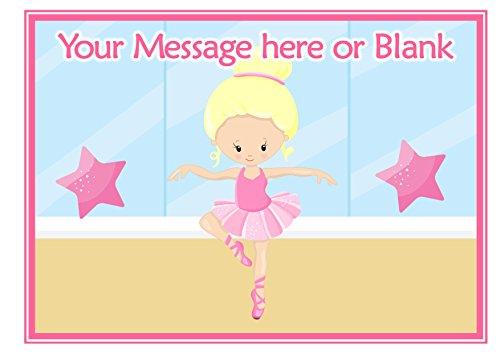 ND3Blonde Ballerina personalisierbar A4Kuchen Topper (oder kleiner auf Wunsch) auf Zuckerguss (Kuchen-topper Blonde)