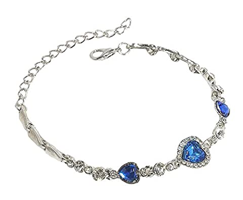 Amstt Damen-Armband mit Kristallen von Swarovski Marineblau