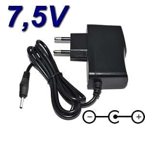 Adaptateur Secteur Alimentation Chargeur 7.5V pour Téléphone Fixe Sagem D37v Trio