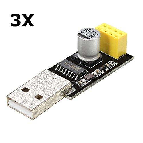Amazon.co.uk - 3pcs ESP01 Programmer Adapter