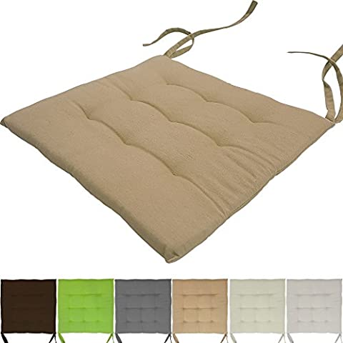 Plain Proheim Chair Cushion 40x 40cm 9Stitching Padded Seat Comfortable & Comfortable Seat Pad in Money Set–Choice of Colours