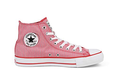 Converse CT Denim Hi Damen Sneaker Rot, Größenauswahl:42