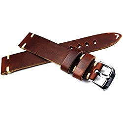 18mm 18/16mm Rio S1836Brown Cowhide Military Style Bracelet Retro Look Quality Aviator Strap Top Quality Strong