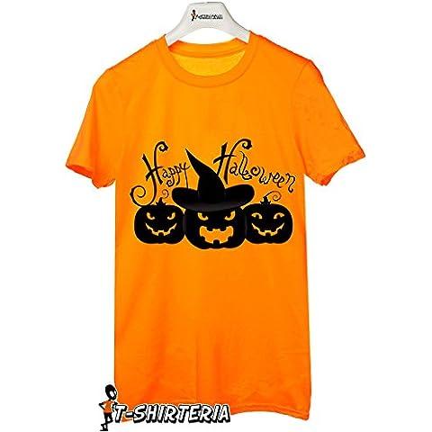 Tshirt happy halloween - strega nella zucca - trick or treat - boo scherzo humor - Tutte le taglie by tshirteria