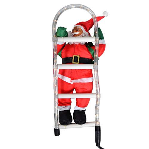 Babbo natale sulla scala santa claus babbo natale decorazione natalizia statuetta