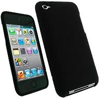 igadgitz Negro Case Dura Funda Cover Carcasa para Apple iPod Touch 4ª Gen + Pantalla Protector