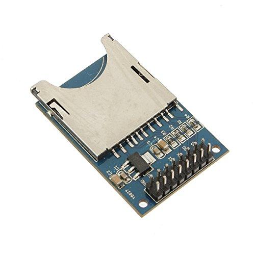 Ils - 10 Stück Slot Sockel Leser SD-Karten-Modul für Mp3 Arduino Compatib (Arduino-sd-karte Mp3-player)