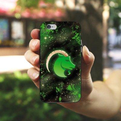 Apple iPhone 5s Housse Étui Protection Coque Signes du zodiaque Bouquetin Capricorne Astrologie Housse en silicone noir / blanc