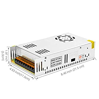 BTF-LIGHTING DC5V 60A 300W Aluminum Power Supply for WS2812B APA102 LED8806 WS2801 SK6812 LED Strip Modules Light
