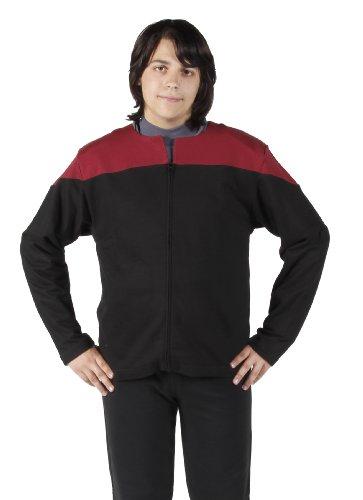 Star Trek Voyager Uniform Jacke Captain Baumwolle rot Größe ()