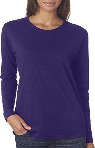 Maglietta in cotone resistente 5,3 G. Long-T-Shirt maniche Viola