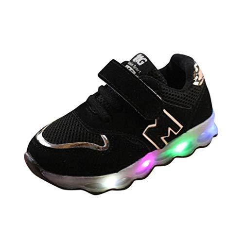 ELECTRI Enfants LED Lumineuse Chaussures de Sport Chaussure Baskets Mode Respirante Running Sneakers pour Garçons et Filles