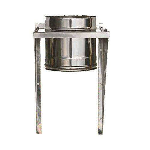 MISTERMOBY TUBO CERTIFICATO IN ACCIAIO INOX CON SUPPORTO A MURO CANNA FUMARIA DA 150 MM