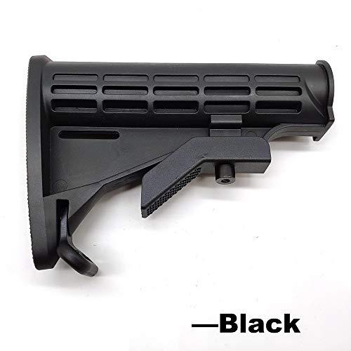 XFC-Stocks, Nylon Stock for AEG Airsoft Paintball Accesorios Pistolas de Aire Gel Blaster Pistola Wells M4 556 Caja de Cambios (Color : Negro)
