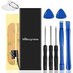 Mbuynow Batterie Interne pour iPhone 5, Batterie 1440mAh en Lithium-ION Rechargeable de Remplacement pour iPhone 5 avec Kit de Outils