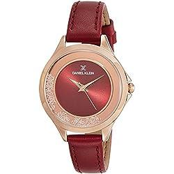 Daniel Klein Analog Red Dial Women's Watch-DK11329-7