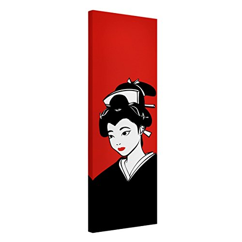 Bilderwelten Cuadro en lienzo - No.CG144 Geisha Narrow - Panorama Alto, cuadros cuadro lienzo cuadro sobre lienzo cuadro moderno cuadro decoracion cuadros decorativos cuadro xxl, Tamaño: 150cm x 50cm
